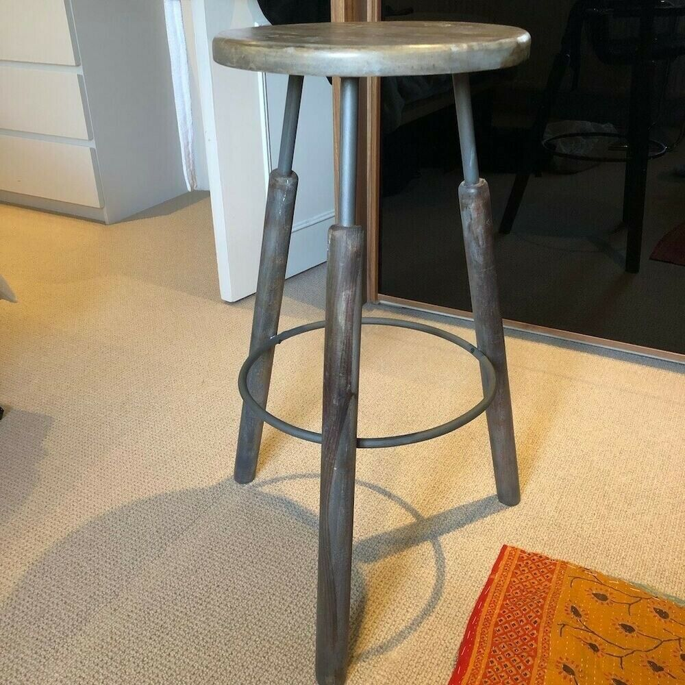 d2a0f3bbbae French connection industrial bar stools x2