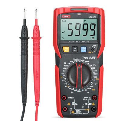 Uni-t Digital Lcd Multimeter True Rms Ut89xd Ac Dc Ammeter Led Ncv Cap Ohm Test