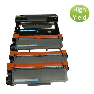 4P For Brother MFC-L2700DW L2720DW L2740DW Toner and Drum TN660 Dr630 Black Ink