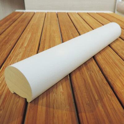 Corrimano VERO LEGNO TONDO Ayous diametro 47 x 3000 mm laccato bianco usato  Almese