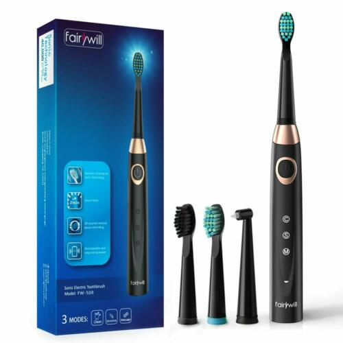 Fairywill Sonic Electric Toothbrush Rechargeable USB Interde