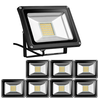 8pack 30w Led Flood Light Outdoor Lighting Warm White Lamp 110v Waterproof Ip65