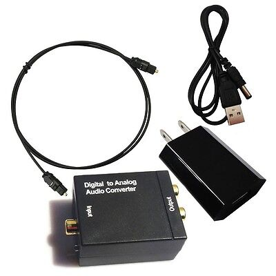 Toslink Digital Optical Coaxial RCA Signal to Analog Audio Converter Adapter WGF