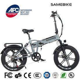 🇬🇧 Samebike 20 inch 500W FAT BIKE Grey XWLX09 Folding Electric Bike 25 MPH eBike 🇬🇧