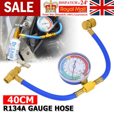 Car Air Conditioning Refrigerant Recharge Measuring Tool Hose Gas Gauge R134A UK