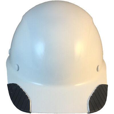 Lift Dax Composite Fiberglass White Cap Style Hard Hat Ratchet Susp
