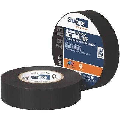 Shurtape - General Purpose Grade Ul Listed Black Electrical Tape 34 X 66