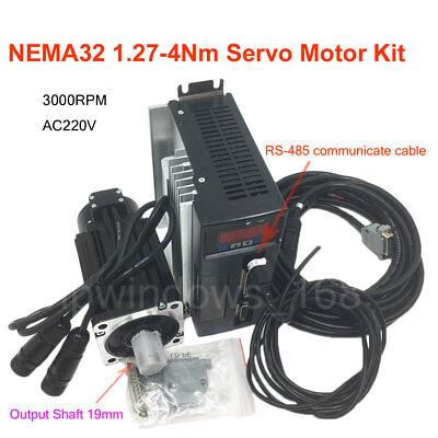 Cnc Servo Motor 400w-1kw Servo Driver 220v Encoder Power Cable Milling Drilling