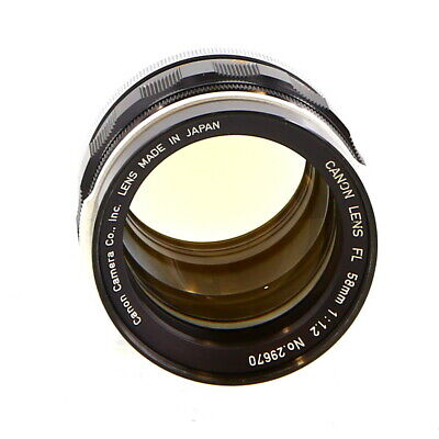 Canon 58mm F/1.2 Breech Lock FL Mount Lens manual focus {58mm} UG