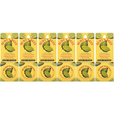6 Pack - Burt's Bees Lemon Butter Cuticle Cream Tin .6Oz Each Lemon Butter Cuticle Cream