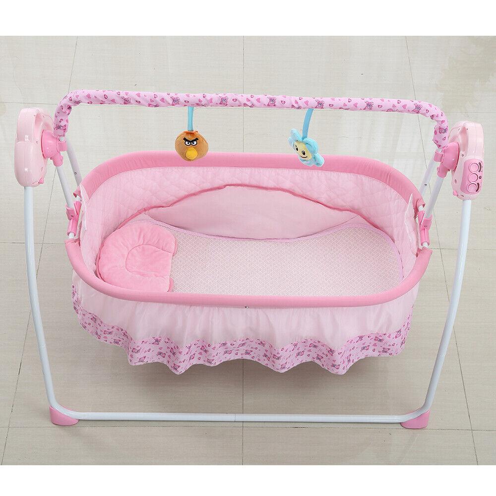 6644dcc9a8271 Electric Baby Auto-Swing Bed Big Space Crib Cots Cradle Infant Rocker Cradle  AU