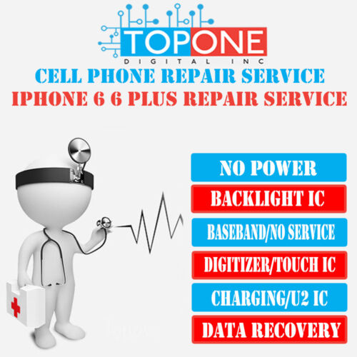 iPhone 6 Plus Touch IC Replacement /No Touch Grey Bar Repair Service/Touch Issue