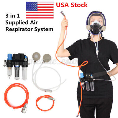 Air Fed System 3 In 1 Function Spraying Respirator Gas Mask Supplied Tool