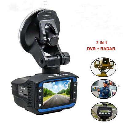 2in1 Radar Laser Speed Track Detector Car DVR Camera Video Recorder Night Vision