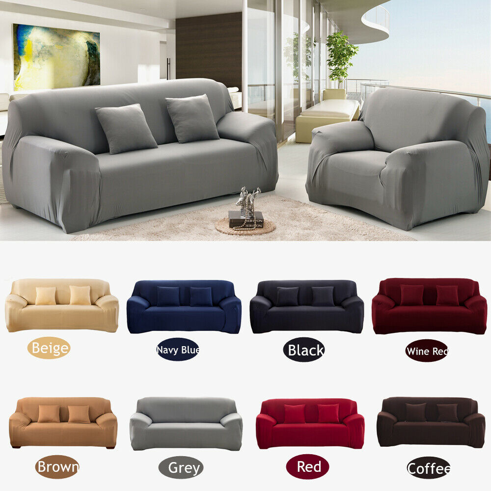1 2 3 4 Seater Stretch Sofa Cover Couch Elastic Tight Wrap S