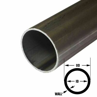 E.r.w. Steel Round Tube 1.000 1 Inch Od 0.120 Inch Wall 48 Inches 3 Pack