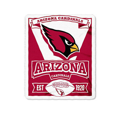 New Northwest NFL Arizona Cardinals Soft Fleece Throw Blanket 50