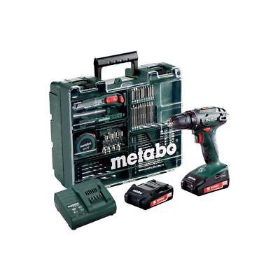 Metabo 18V Akku Bohrschrauber BS 18 Set mit 2,0Ah Akkus inkl. Werkzeugsatz