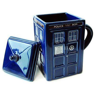 Doctor Who 'Tardis' Ceramic Mug with Lid New (FREE P+P)