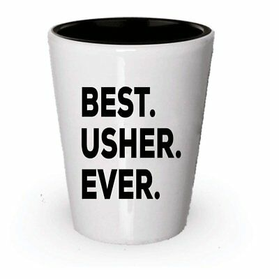 Usher Shot Glass - Best Usher Ever - Usher Gifts For Kids Church Wedding