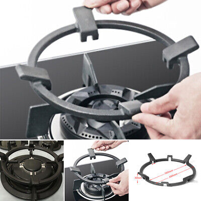 Cast Iron Wok Pan Support Rack Stand For Burners Gas Hobs Top Black New