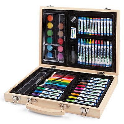 Junior Artist Case, Complete Art Set - Oil Pencils Pens Markers Paints Crayons