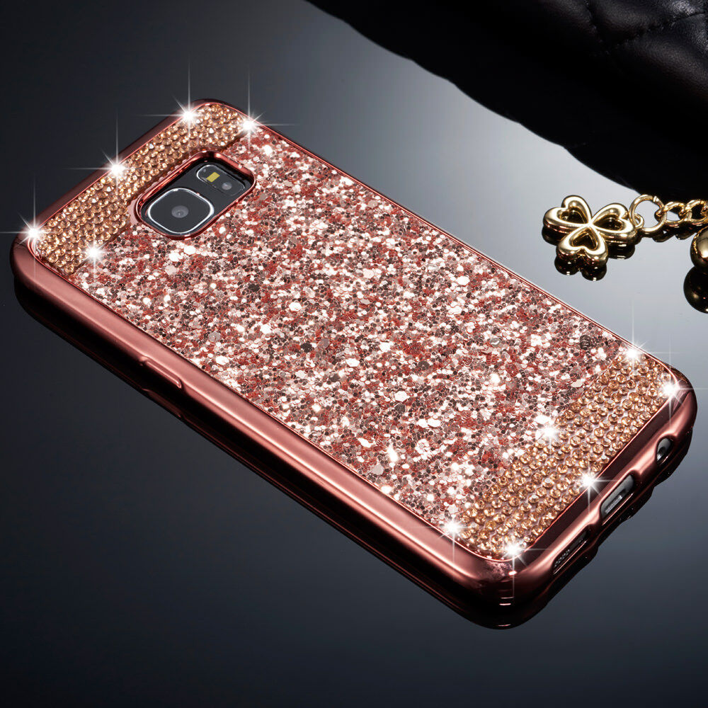wholesale dealer 7fc45 9ad1f Details about Luxury Bling Glitter Diamond Soft TPU Case Skin Cover For  Samsung Galaxy S8 s7