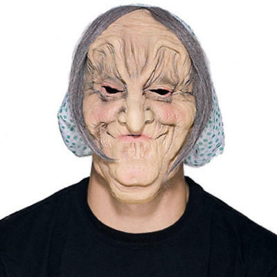 OLD WOMAN MASK MATILDA RUBBER MASK GRAY HAIR HALLOWEEN SENIOR CITIZEN OLD LADY (Old Lady Halloween Hair)