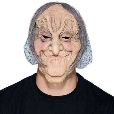 OLD WOMAN MASK MATILDA RUBBER MASK GRAY HAIR HALLOWEEN SENIOR CITIZEN OLD LADY](Old Woman Halloween Mask)