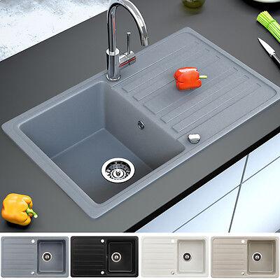Granit Spüle Küchenspüle Einbauspüle Auflage Spülbecken Küche reversibel