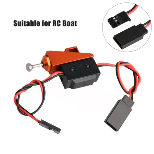 Waterproof RC Boat On/Off Power Switch with Aluminum Mount f