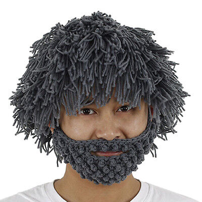 Caveman Beard Beanie Wig for Halloween Fun Party for Youth to Adult](Fun Halloween Parties For Adults)