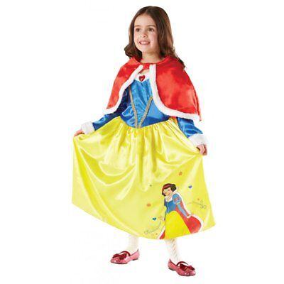 Snow White Winter Costume (SNOW WHITE DISNEY PRINCESS GIRLS WINTER WONDERLAND FANCY DRESS KIDS COSTUME)