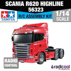 56323 Tamiya Scania R620 6x4 Highline 1/14th R/C Radio Control Assembly Kit