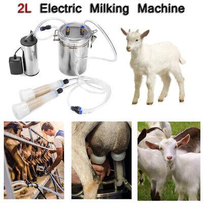 Electric Milking Machine Cow Milker Portable Stainless Steel Vacuum Pump Bucket