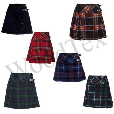 New Custom Made Scottish Ladies Tartan Billie Kilt Skirt in 40 Tartans-All Sizes
