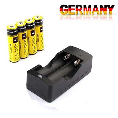 4X 18650 AKKUS  3.7V 6000mAh Li-Ionen batterie +18650 Ladegerät