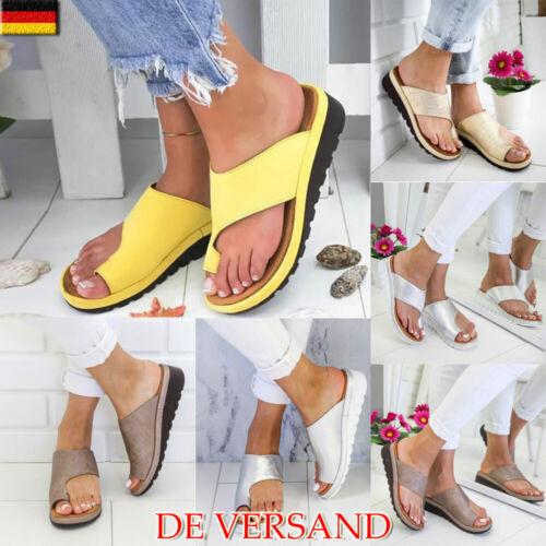 Damen Sandalen Flach Schuhe Zehentrenner Damenschuhe Sommer Sandaletten Sandals