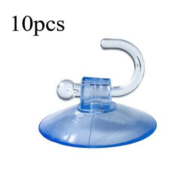 10pcs Ventosa Gancho Transparente Cristal Ventana Pared Percha Cocina Baño
