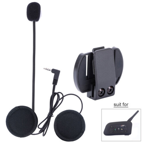 Headset mic/speaker+Clip mount for Motorcycle Bluetooth Helmet Intercom V6 1200M