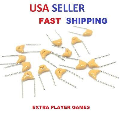 Ceramic Capacitors -5 Pcs- Any Value - .1uf-100nf 50v Usa Seller