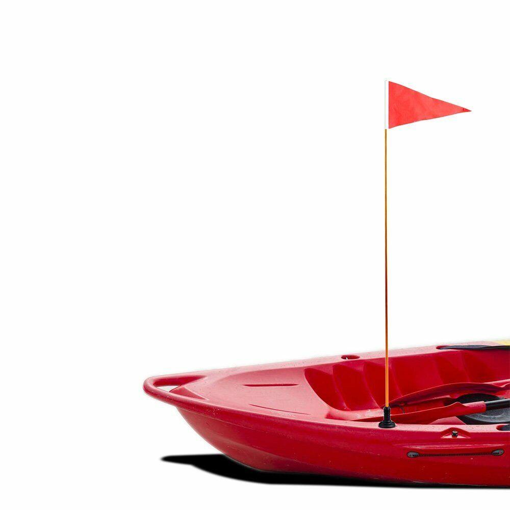 "Canoe 47/"" Safety Flag Base Kit Telescopic Flag Pole /& Rail Mount Pole for Boat"