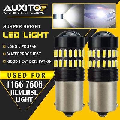 2X AUXITO BA15S 1156 P21W 7506  Reverse Back Up Light Super White LED Bulb EA ()