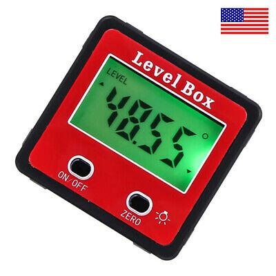 Magnetic Digital Inclinometer Level Box Gauge Angle Meter Finder Protractor - Us