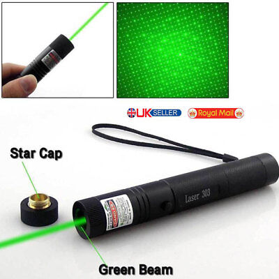 2 in 1 Military 20 Miles Green 1mw 532nm Laser Pointer Pen Visible Beam Laser UK