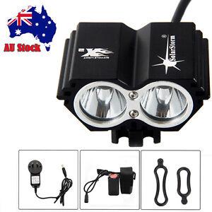 SolarStorm 5000 Lumen 2x CREE XM-L U2 LED Bicycle bike HeadLight Headlamp Light