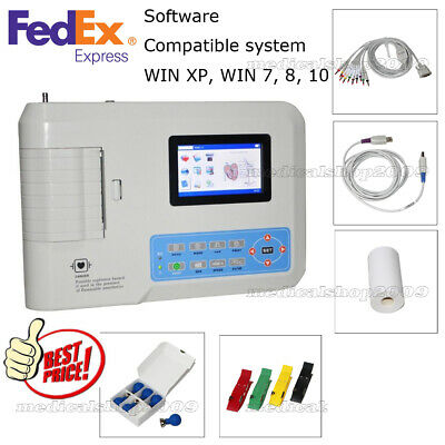 Contec Ecg300g Three Channel 12 Leed Portable Ecgekg Machineprinter