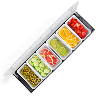 - Portable Food Toppings Sides Condiments Serving Station Salad Bar 19