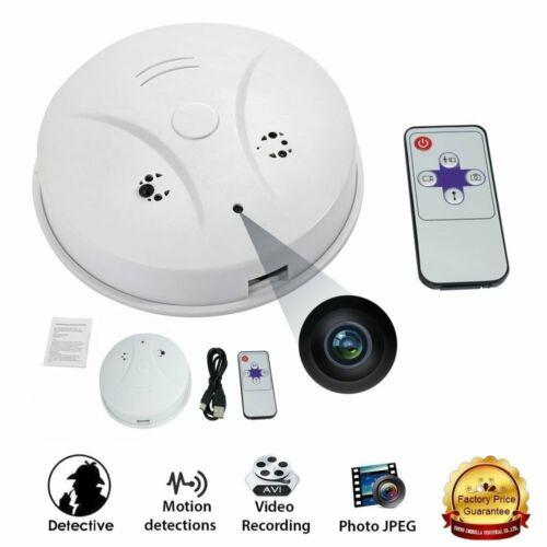 Hidden Spy Camera Smoke Detector Motion Detection HD Video Recorder Camcorder US