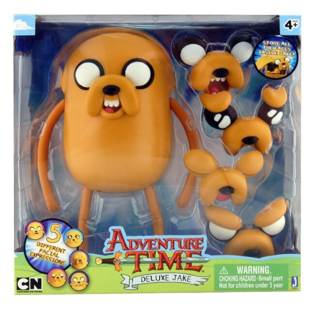 """Adventure Time Large 10"""" Deluxe Face Changing JAKE Posable Figure Jazwares NEW"""